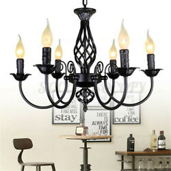 Metal Chandelier Hanging Lights Candle Ceiling Lamp Pendant Fixtures Home Decor $49.29
