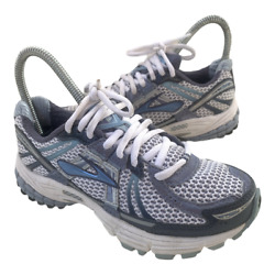 Brooks Adrenaline GTS 12 Womens Size 5 Gray Blue Athletic Running Shoes Sneakers $33.95