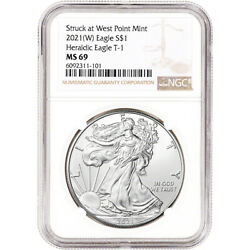 2021 W American Silver Eagle NGC MS69 $49.20