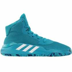 adidas Sm Pro Bounce 2019 Team Mens Basketball Sneakers Shoes Casual Blue $79.99
