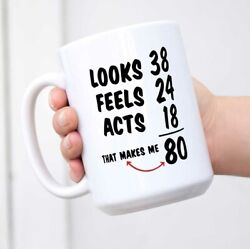 Funny 1938 80th Birthday Ideas Mug for Men and Women Novelty Ceramic Coffee Mugs $12.99