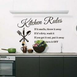 Vinyl Kitchen Rules Room Decor Art Quote Wall Decal Stickers Removable Mural U S $5.99