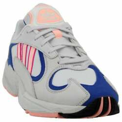 adidas Yung 1 Lace Up Mens Sneakers Shoes Casual White $29.99
