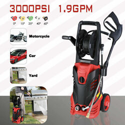 3000PSI 1.9GPM Electric Pressure Washer Water Cleaner Power Sprayer Kit 2200W $49.99