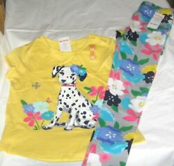 NWT Girls 8 GYMBOREE 2 Pc Outfit Set Leggings amp; Short Sleeve Top NEW $19.99
