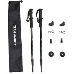 2× 54quot; Trekking Sticks Pole Climbing Crutches 24 54quot; with Carrying Bag US Stock $28.88