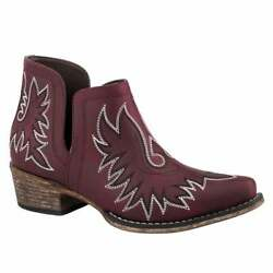 Roper Ava Womens Boots Ankle Low Heel 1 2quot; Red $57.99