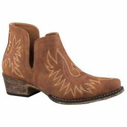 Roper Ava Womens Boots Ankle Low Heel 1 2quot; Brown Size 7 B $64.99