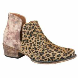 Roper Ava Womens Boots Ankle Low Heel 1 2quot; Brown $57.99