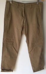 Womens Stone Trousers 12 Mamp;S Cropped Summer  lt;NZ2673z GBP 5.99