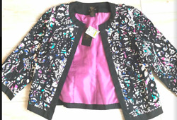 Floral purple black and green multicolored jacket from Stein Mart size small $18.00