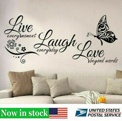 Live Laugh Love Vinyl Butterfly Wall Art Stickers DIY Home Sofa Room Decal Decor $8.36