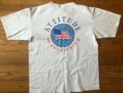Vintage Large Henley T shirt Thick Cotton Ivory Americana Flag $34.00