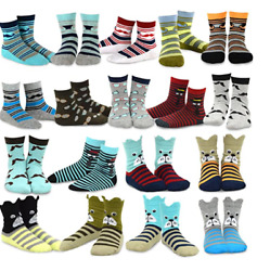 18 pairs Tee Hee Kids Socks pack 9 10 funny dog faces moustaches glasses stripes $14.99