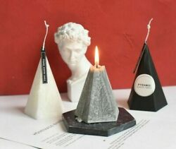 Scented Candles Geometric Cone Home Decoration Birthday Romantic Wax Candle $33.68
