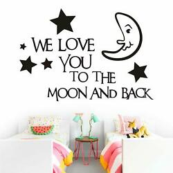 We Love You to The Moon and Back Wall Sticker Mural Diy Room Wall Decor Decal $15.95