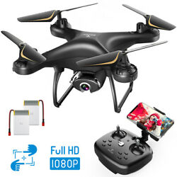 SNAPTAIN Full HD 1080P Live Video Camera Drone for Adults Voice Gesture Control $72.99