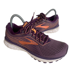 Brooks Adrenaline 12 Womens Size 8 Purple Athletic Running Trail Shoes Sneakers $48.95
