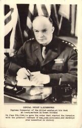 Dwight D Eisenhower At His Desk At Great Britian Headquarteds WW2 RPPC $8.00