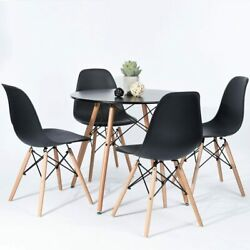 5 Piece Dining Table Sets Dining Table amp; 4 Dining Chairs Kitchen Furniture Black $259.99