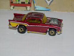#x27;57 CHEVY HOT ONE GOLD WHEELS 1 64 HOT WHEELS LOOSE RED METALLIC $3.41