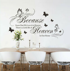 Butterfly Flower Vinyl Wall Art Stickers Decals Bedroom Home Removable DIY Decor $8.99