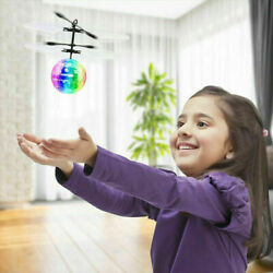 RC Flying Ball Drone Helicopter Ball Built in Disco Music With Shinning LED USA $10.99