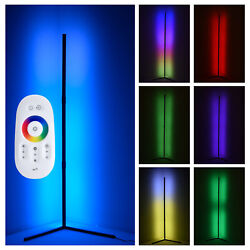 LED Floor Lamp RGB Color Changing Remote Standing Light Living Room Metal Light $63.99