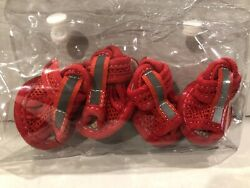 ACL Dog Shoes Size 1 Red Mesh Foot Protector XS Reflective Pet Booties New $8.99