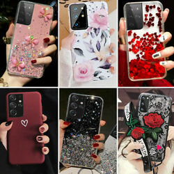 Shockproof Case for Samsung Galaxy S21 Ultra Note 20 S20 FE Bling Glitter Cover $7.98