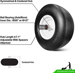 New 13x6.50 6 Flat Free Commercial Lawn Mower Smooth Tire with Steel Rim for Law $98.00