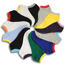 Womens Socks Multi Color no show 12 pair Size 9 11 Fashion Cotton Casual NEW $9.97