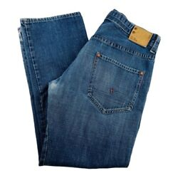 G Star Mens 3301 Classic Straight Jeans Blue 5 Pocket Denim Button Fly 34x32 $27.74