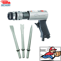 AIR HAMMER With 3 Piece Chisel Set Ingersoll Rand Heavy Duty Steel Barrel Tool $54.99