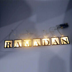 Night Lamp LED String Light Hanging Ramadan Islamic Eid Mubarak Party Decoration $8.59