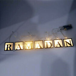 Night Lamp LED String Light Hanging Ramadan Islamic Eid Mubarak Party Decoration $8.98