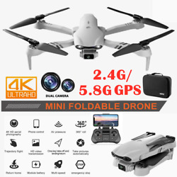Foldable 6K HD Dual Camera 2.4G 5G GPS Wifi FPV Drone Wide Angle RC Quadcoptergt; $112.69