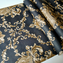 Vintage Luxury 3D Texture Damask Wall Paper Bedroom Living Room Wallpapers Roll $46.99