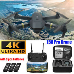 🔥Drone X Pro WIFI FPV 4K HD Camera 3Battery Foldable Selfie RC Quadcopter Drone $34.49