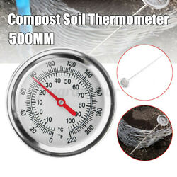 Compost Soil Thermometer 20#x27;#x27;Stem Display 0 120 Degrees Celsius Garden Measuring $15.99