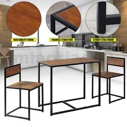 Dining Table Set W 2 Chairs Morden Wooden Kitchen Breakfast Bar Room Furniture $118.99