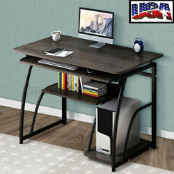 US Wood Computer Desk Study Laptop PC Table Work Writing Home Office Workstation $59.87