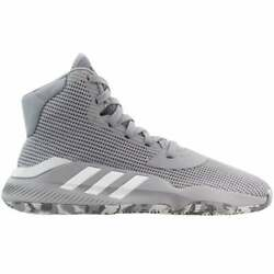 adidas Pro Bounce 2019 Mens Basketball Sneakers Shoes Casual Grey $89.99