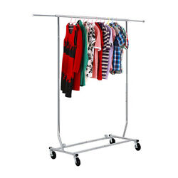 Rolling Garment Rack Collapsible Heavy Duty Clothing Hanging on Lockable $40.00