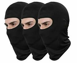 Pack of 3 Black Ski Mask Bandana Face Hat for Outdoor Airsoft Motorcycle Hood $15.98