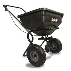 85 Lb Behind Broadcast Spreader Tow Hopper Fertilizer Seed Atv Lawn Tractor Pull $93.91