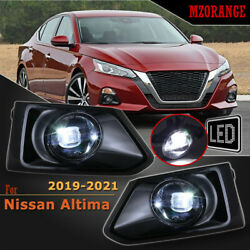 LED Front Fog Light LampSwitchWiring Kits For Nissan Altima 2019 21 Smoke Lens $72.15