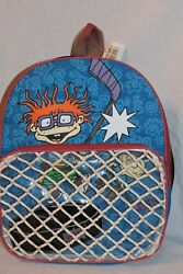 NEW VINTAGE WITH TAG 1998 VIACOM RUGRATS CHUCKIE HOCKEY BACKPACK 12quot; X 14quot; $16.99