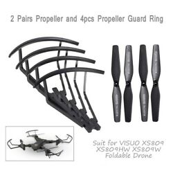 4x Propeller 4X Propeller Guard Ring for VISUO XS809 Series RC Quadcopter Drone $7.89
