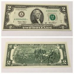 VINTAGE RARE 2003 STAR $2 BOSTON FEDERAL RESERVE TWO DOLLAR BILL UNCIRCULATED $38.98